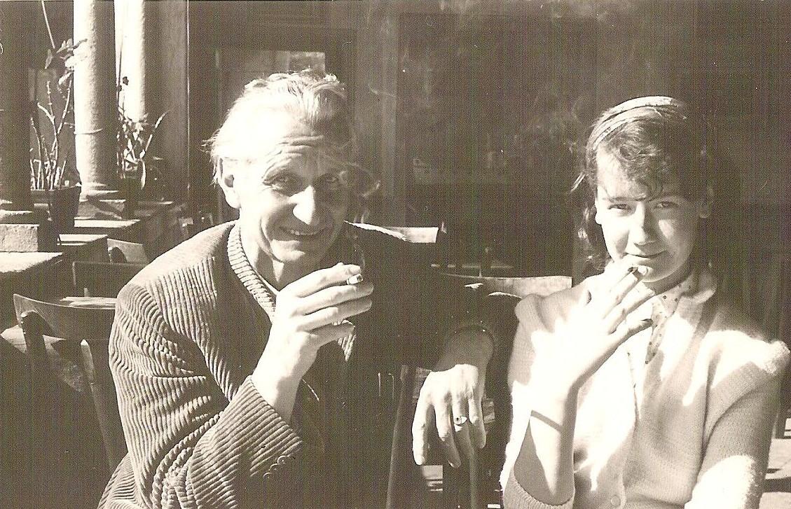 Otto und Tochter Angelika 1958