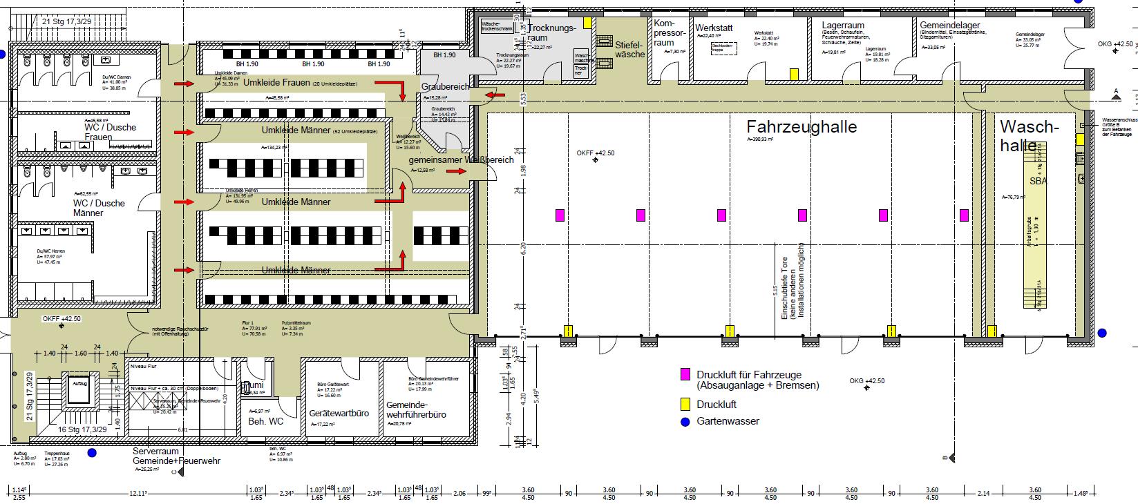 Planzeichnung Erdgeschoss