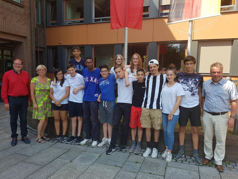 Besuch beim Landrat Bernhard Reuter