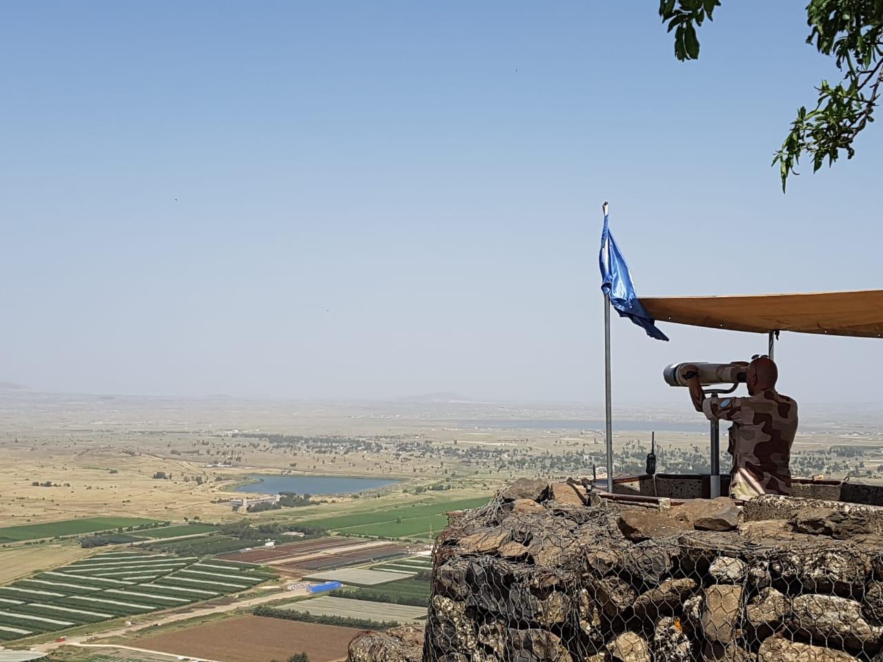 Aussichtspunkt nach Syrien