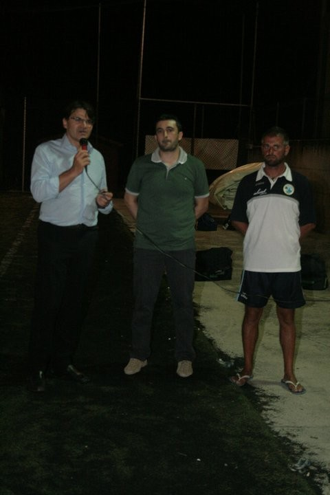 l'ex sindaco, Christian Rossetti e il presidente Roberto Marzocchini