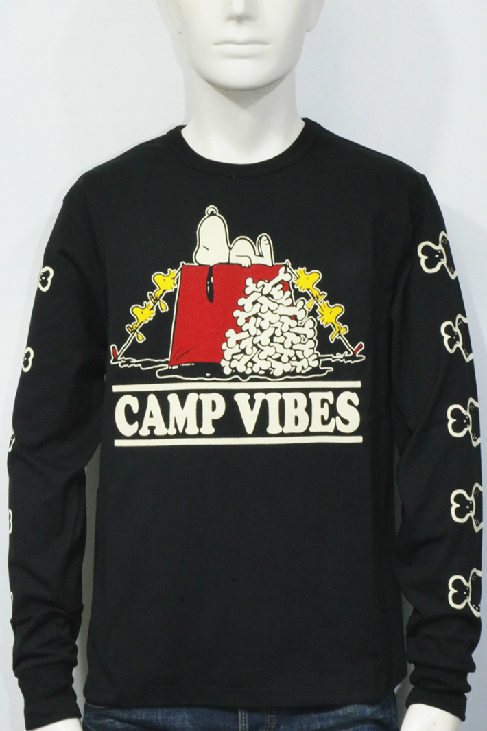 2216e9c9dd PEANUTS CAMP VIBES SNOOPY 長袖Tシャツ