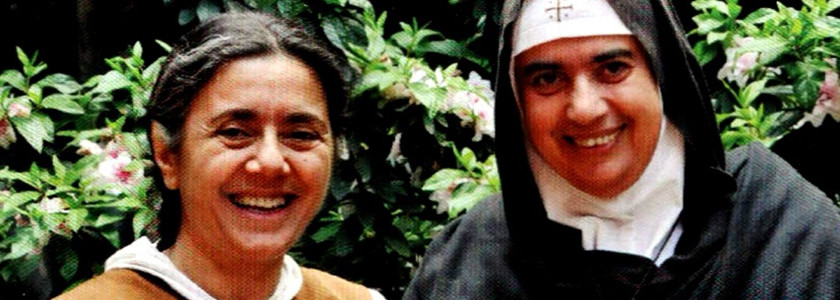 Sister Carmel & our superior (higoumène) Mother Agnes Mariam