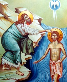 Image result for baptism of Jesus icon""