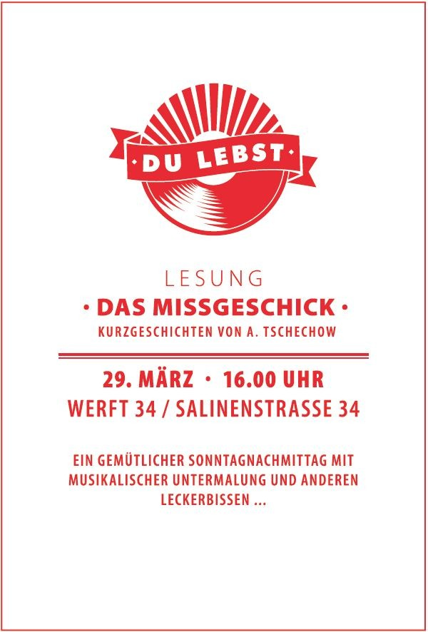 29.03.15 // Lesung mit René Sachse // Musik von Toni Tanz