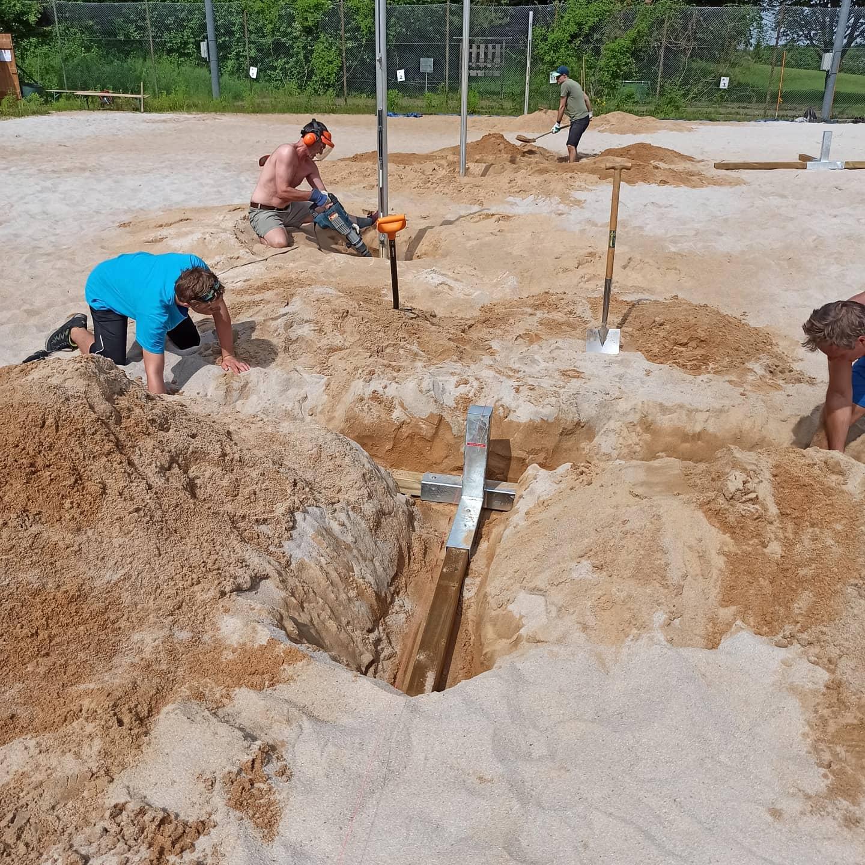 Sandbuddeln macht Spaß