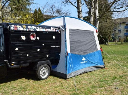 Zelt für Ape TM, Kasten