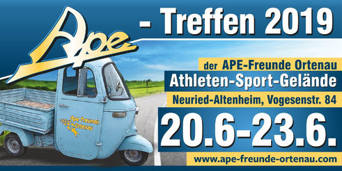 Ape-Treffen der Ape-Freunde Ortenau 2019