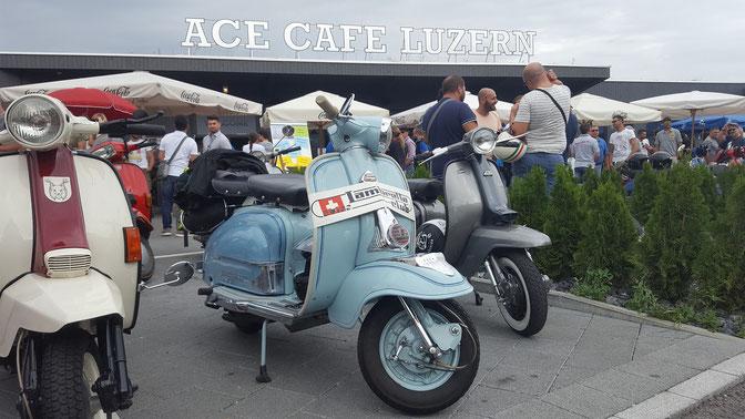 PPOW ON VESPA & LAMBRETTA MEET, ACE CAFE LUZERN