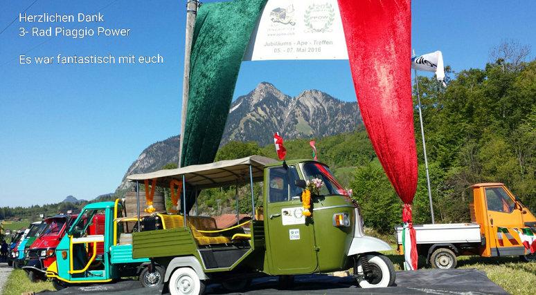 20 Jahre PPOW - Jubiläum 20 Jahre 3-Rad Piaggio Power