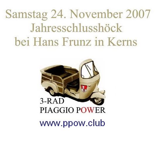 PPOW Jahresschlusshöck 2007