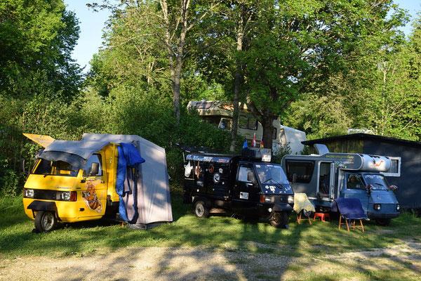 1. Ape-Treffen am Neckar der Ape-Freunde Poppenweiler