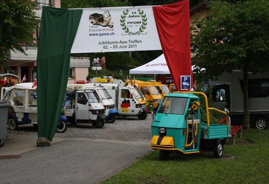 Jubiläums Ape-Treffen, 15 Jahre PPOW, in Kerns 2011