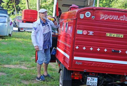 PPOW-Spezialausflug an das  2. Ape Treffen Poppenweiler