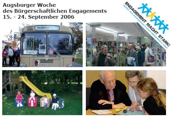 Bundesweite Woche des bürgerschaftlichen Engagements 2006 in Augsburg vom 15. bis 24. September 2006