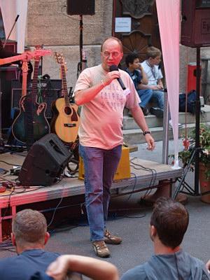 Konzerte im Bürgerhof 26.06.09 Ulrico Ackermann - Freiwilligen-Zentrum Augsburg - Foto: Hugo Fössinger
