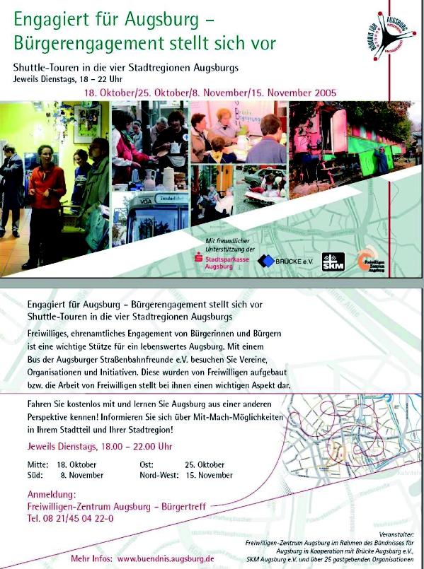 Bundesweite Woche des bürgerschaftlichen Engagements 2005 in Augsburg vom 25. November bis 05. Dezember 2005