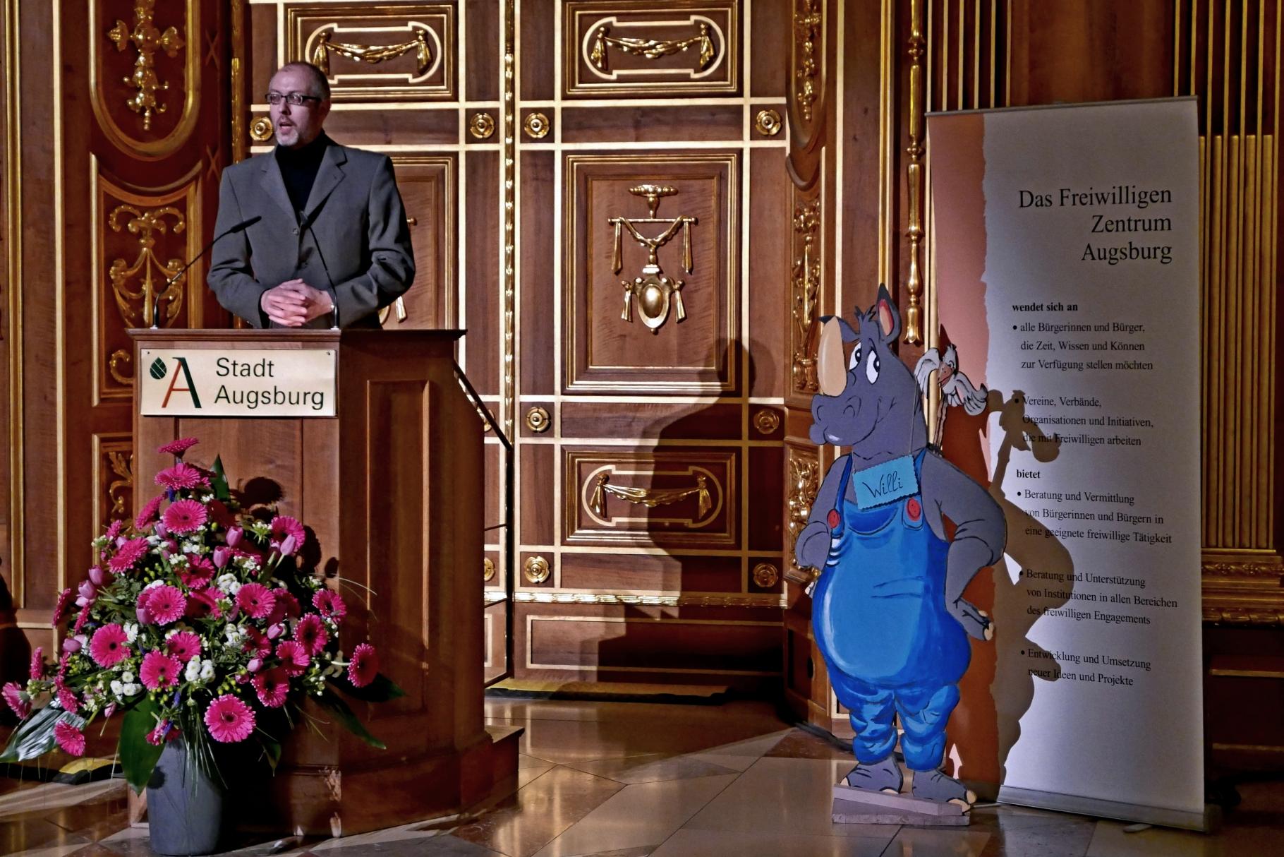 Dr. Christoph Steegmans - Festakt 20 Jahre Freiwilligen-Zentrum Augsburg - 24.03.2017 im Goldenen Saal Rathaus Augsburg - Foto: Christoph Urban