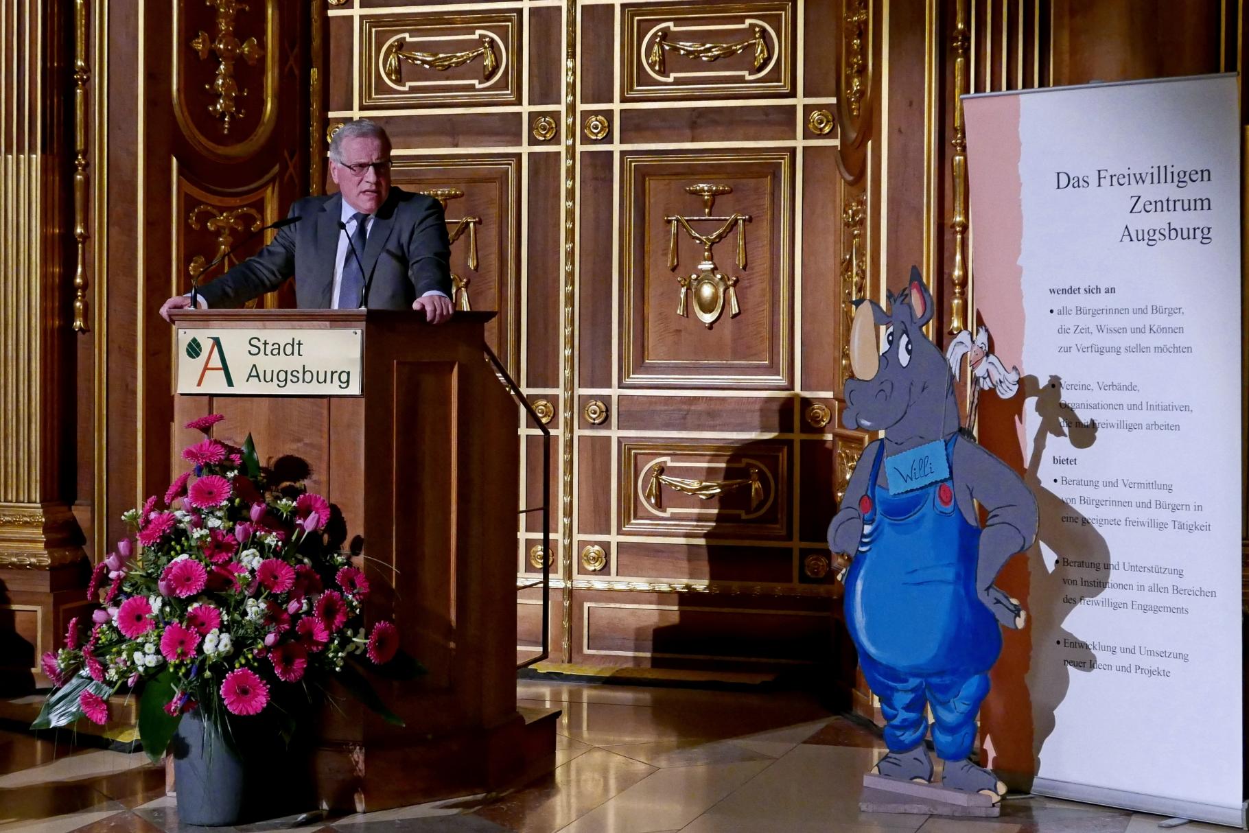 Johannes Hintersberger - Festakt 20 Jahre Freiwilligen-Zentrum Augsburg - 24.03.2017 im Goldenen Saal Rathaus Augsburg - Foto: Christoph Urban