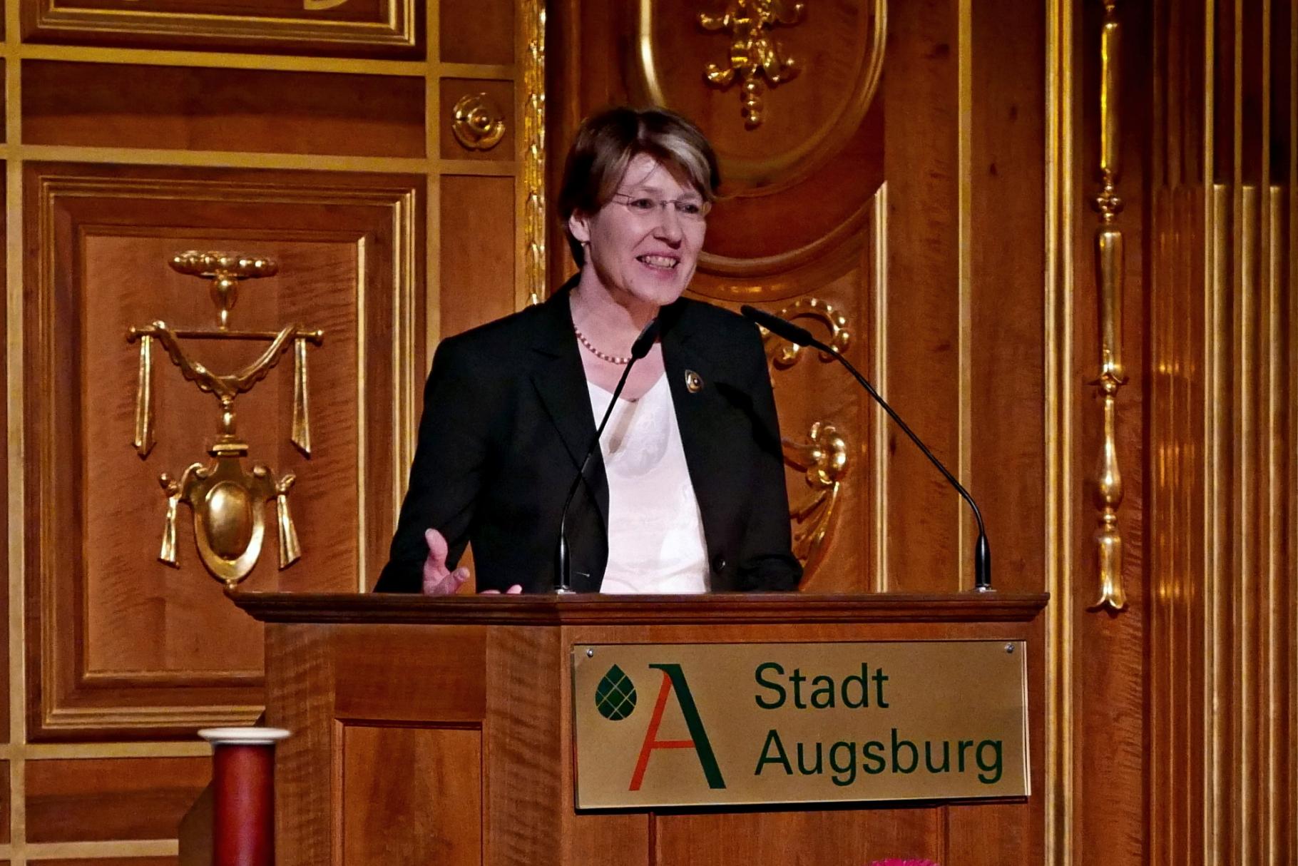 Ulrike Bahr - Festakt 20 Jahre Freiwilligen-Zentrum Augsburg - 24.03.2017 im Goldenen Saal Rathaus Augsburg - Foto: Christoph Urban