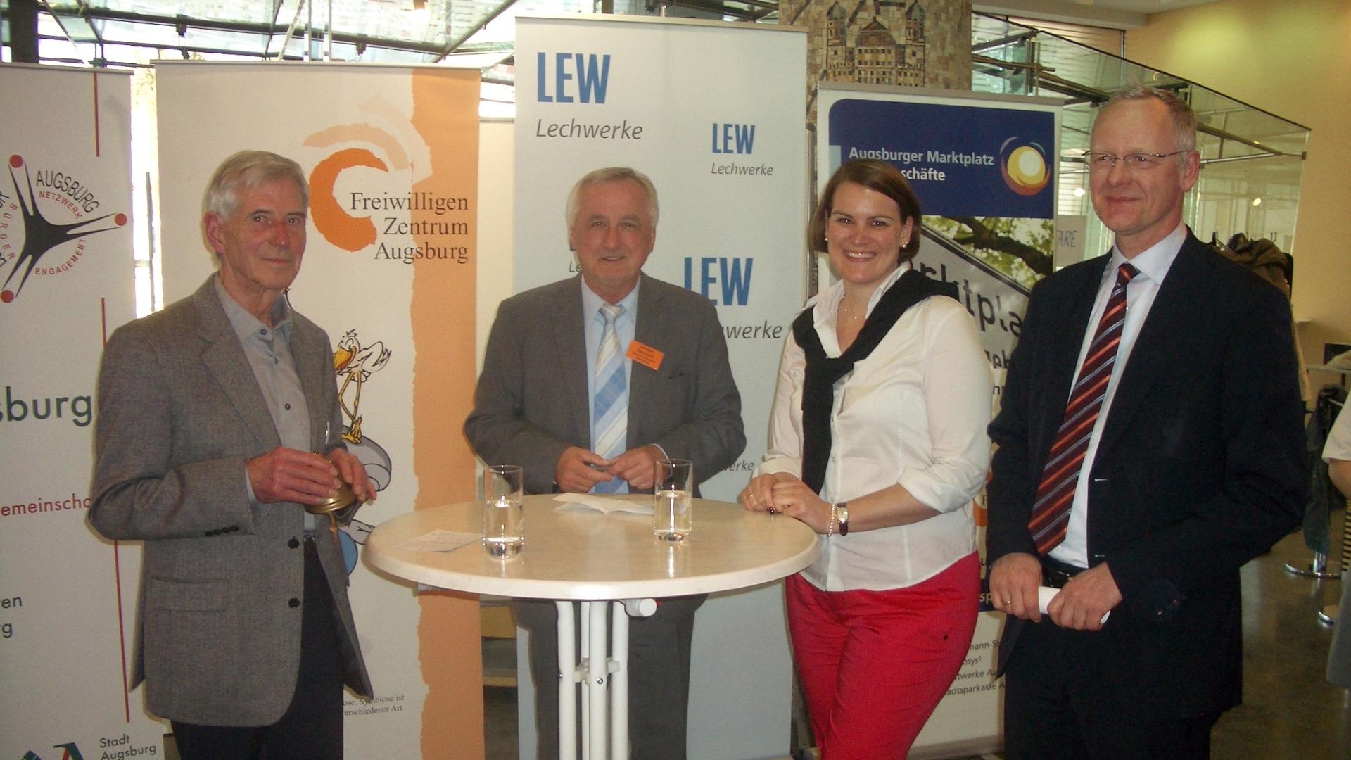 Unsere Aktion Gute Geschäfte Augsburg bei der LEW - Foto: Wolfgang F. Lightmaster
