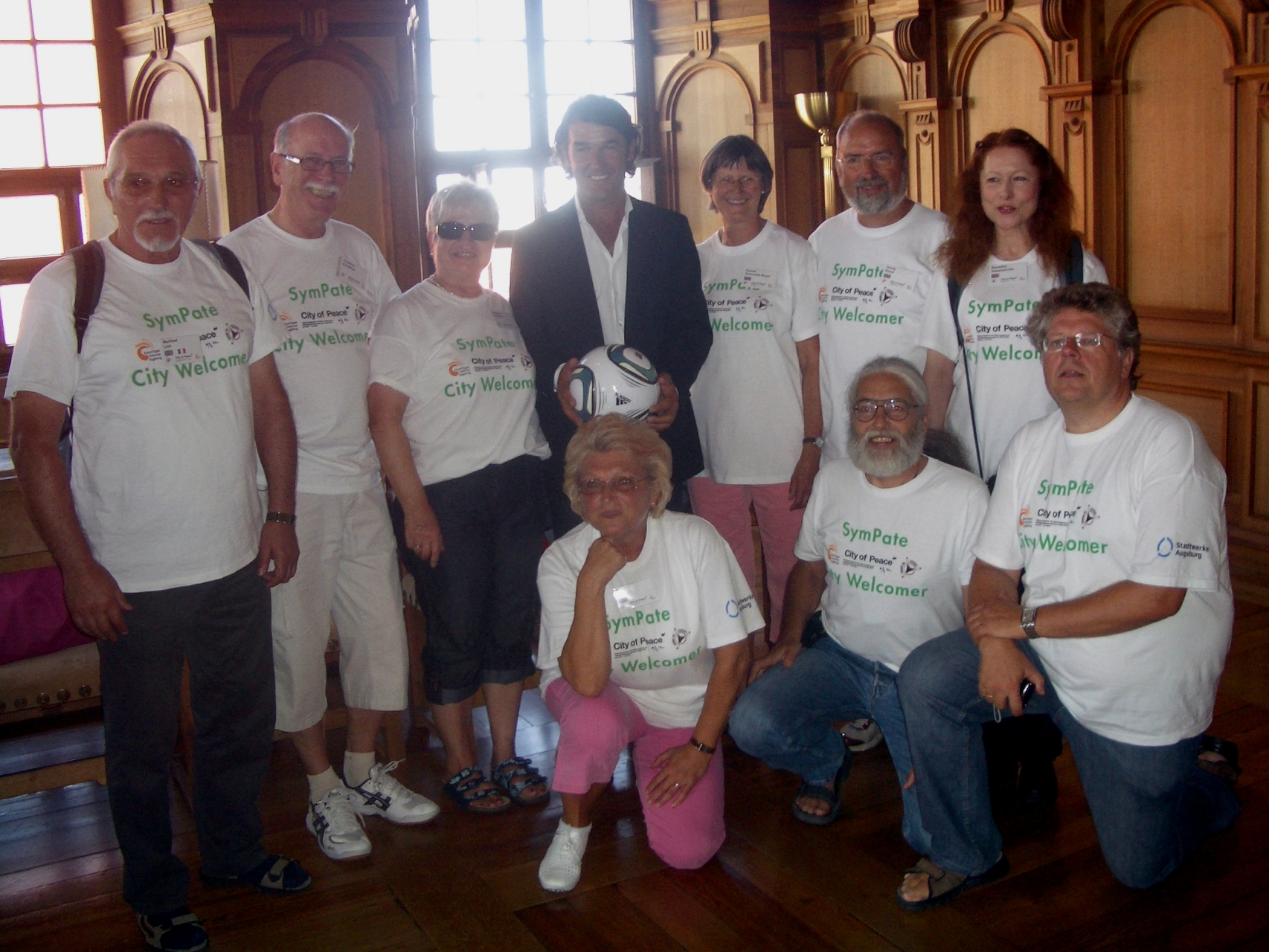 SymPaten - City Welcomers 2011 - Empfang im Fürstenzimmer Rathaus für Karl-Heinz Riedle - Foto: Wolfgang F. Lightmaster - Freiwilligen-Zentrum Augsburg