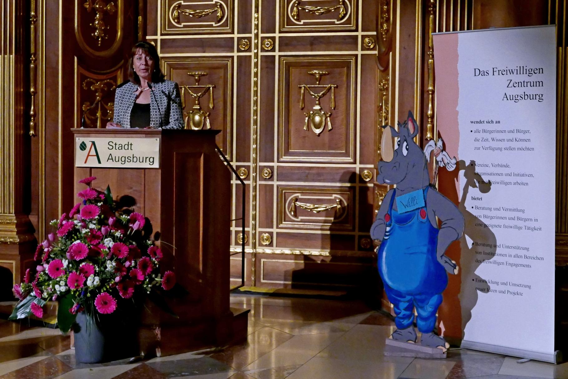 Jutta Koch-Schramm - Festakt 20 Jahre Freiwilligen-Zentrum Augsburg - 24.03.2017 im Goldenen Saal Rathaus Augsburg - Foto: Christoph Urban