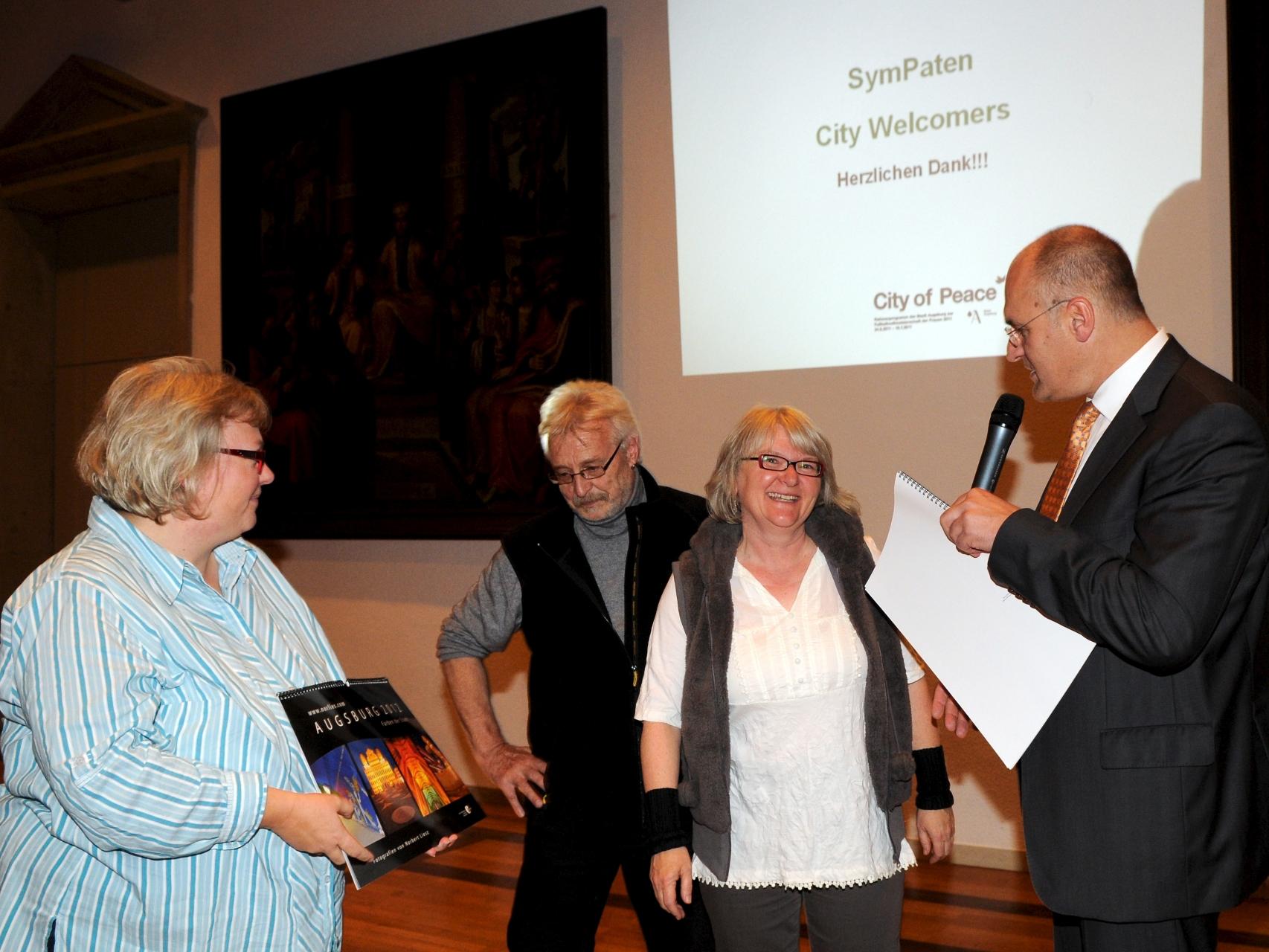 SymPaten - City Welcomers 2011 - Dankeschön-Fest 25.10.2011 Oberer Fletz Rathaus - Foto: Siegfried Kerpf - Freiwilligen-Zentrum Augsburg