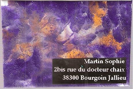 du violet et des orchidées pour Sofia...