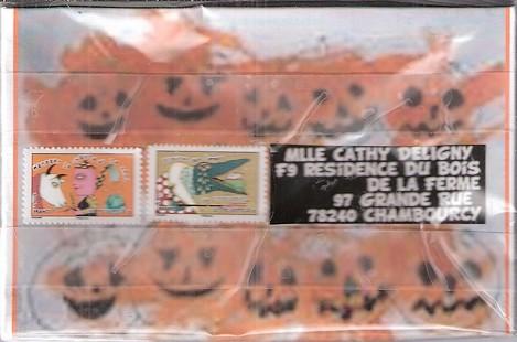 Cathy voulait faire une déco Halloween pour le jour J....ou plutôt H...