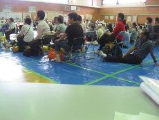 床の線は災害時生活スペース(1×2m)