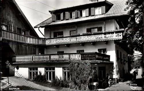 Hotel Mitteregger in schwarz weiß