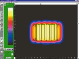 Feldstärkenverlauf bei einem Low-Spillover-System bei gleicher Raumgröße