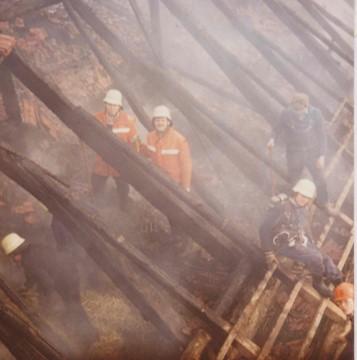 Feuer auf dem Hof Petersmann 1982