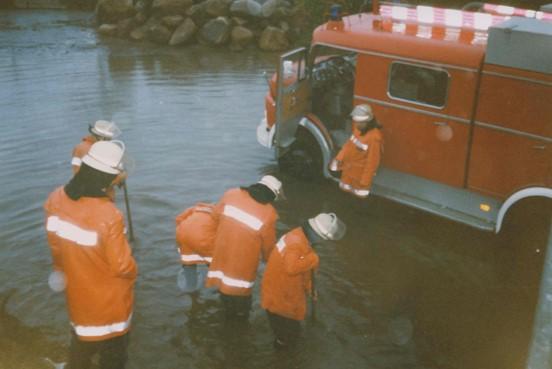 Hochwasser nach Regenfällen 1993
