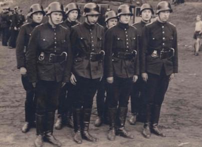 Die Wettkampfgruppe der Feuerwehr 1949