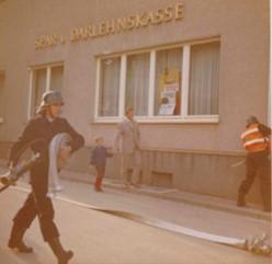 Übung im Ortskern 1970