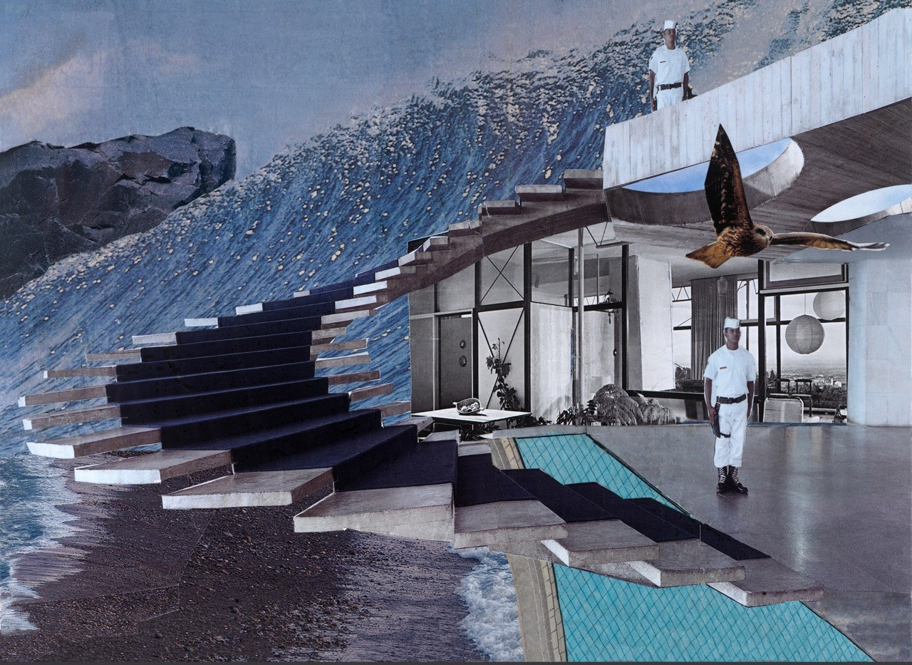 Space for Structure - Pool #1 - Fotografie Fine Art Print von Handcut Paper Collage (60cm x 43,5cm) © Edel Seebauer