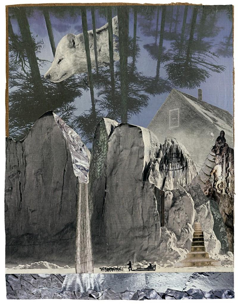 Landscape #1 - Fotografie Fine Art Print/Alu Dibond von Handcut Paper Collage (84cm x 118cm) © Edel Seebauer