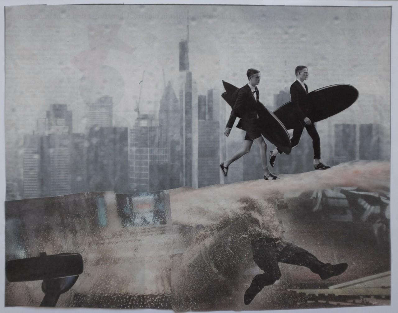 Sweep - von Handcut Paper Collage (Original 31cm x 24cm) © Edel Seebauer