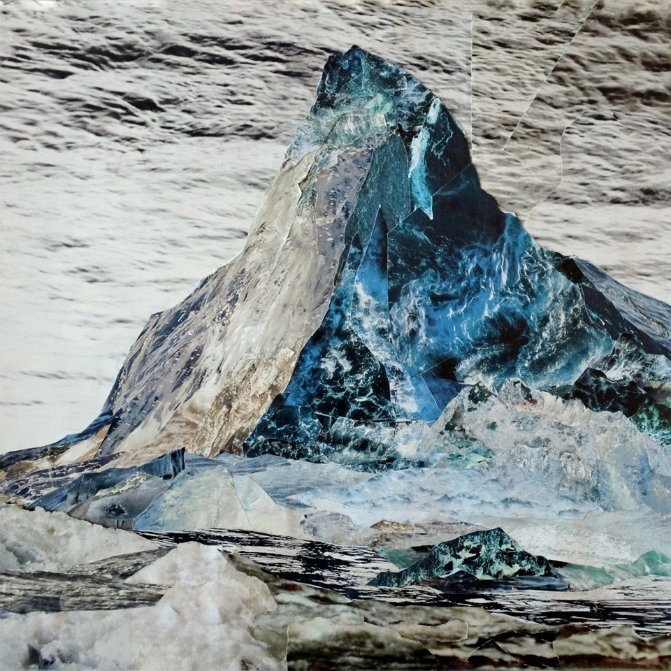 Mountain of water #2 Matterhorn –Handcut Paper Collage-Fotografie (120cm x 120cm) © Edel Seebauer