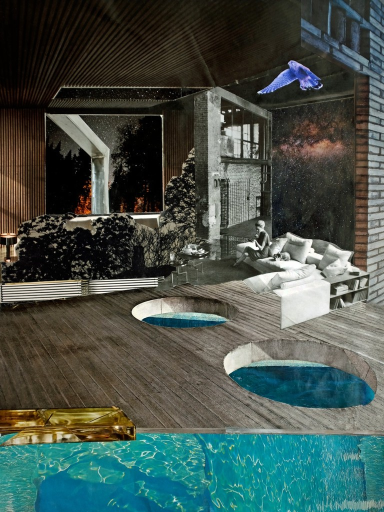 Space for Structure - Pool #2 - Handcut Paper Collage © Edel Seebauer