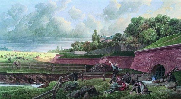 "Linienwall - Waehringer Guertel. Quelle "" Wikipedia / Wienmuseum)"