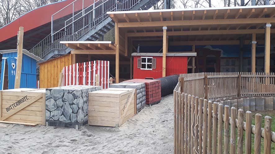 Frisch fertig gestellt: Die Kinder-Baustelle im Freizeitpark Lochmühle.