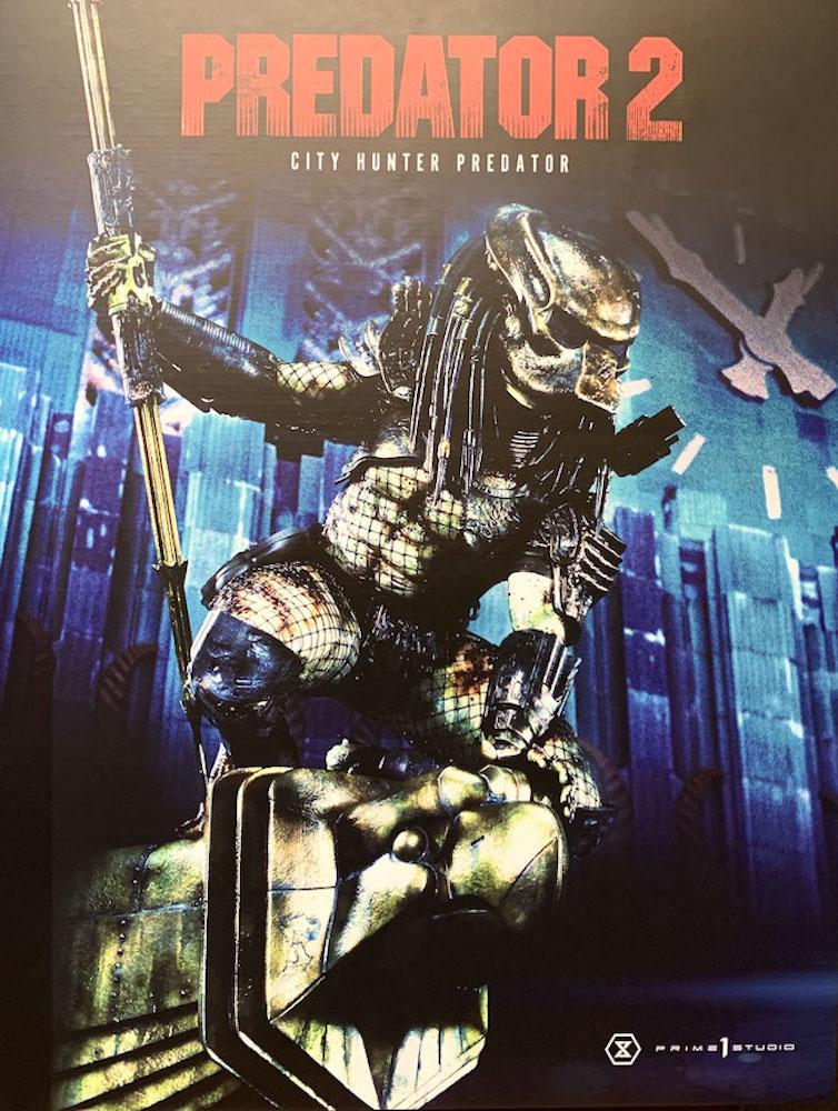 Predator 2 3D Wand-Relief City Hunter Predator 79cm Statue Prime 1