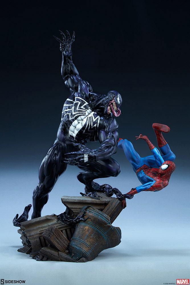 Spider-Man vs Venom Maquette Marvel Statue 56cm Diorama Sideshow