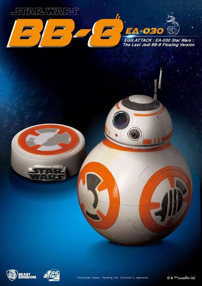 BB-8 magnetisch schwebend mit Led Beleuchtung Star Wars Episode VIII Statue 13cm Egg Attack