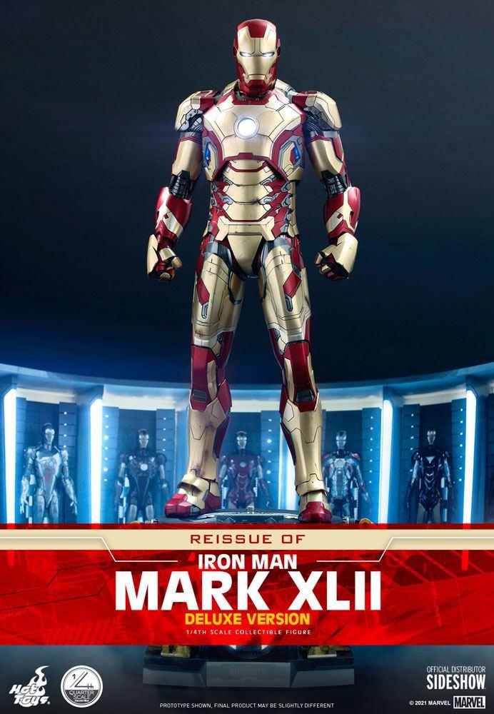 Iron Man Mark XLII Deluxe Ver. 1/4 Iron Man 3 Actionfigur 49cm Hot Toys