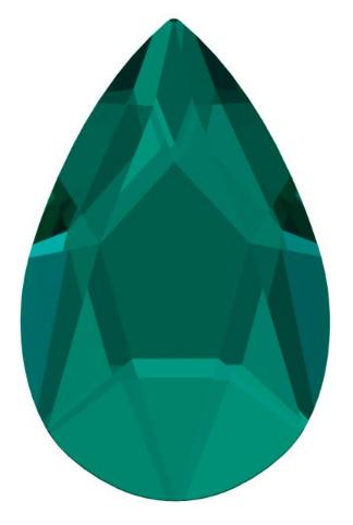 Swarovski 2303 Päärynä Pear 205 Emerald No Hotfix