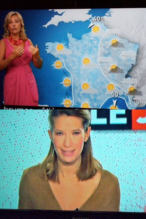 TVの天気予報もInfoも胸の谷間を微妙な深さ迄見せる。ついそちらに注意がいく!?